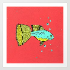 it's a goopie fish Art Print
