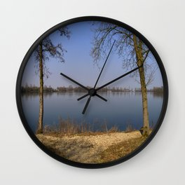 looking to the Lake in Laupheim Wall Clock