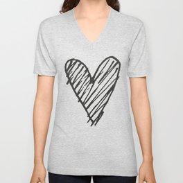 Ink hearts pattern 2 Unisex V-Neck