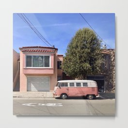 Rosy day in San Francisco Metal Print