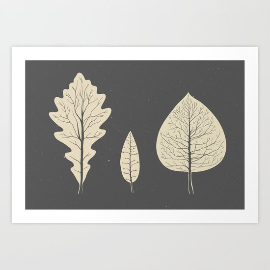 Tree-leaf Art Print