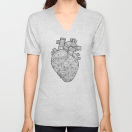 Heart Anatomy organ-mandala Unisex V-Neck