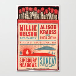 Willie Nelson And Family   Canvas Print