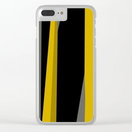 yellow gray and black Clear iPhone Case