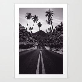 Road Tropical Destine Art Print