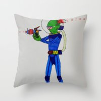 physics Throw Pillows featuring Alien Physics  by DApple