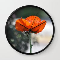 flower of life Wall Clocks featuring LIFE by Teresa Chipperfield Studios