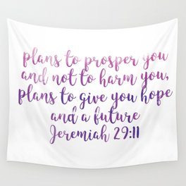 Jeremiah 29:11 Wall Tapestry