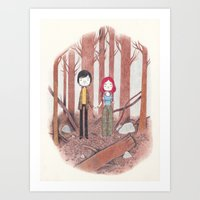 eternal sunshine of the spotless mind Art Prints featuring eternal sunshine of the spotless mind by yohan sacre