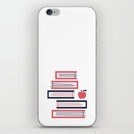 Stacked Books iPhone Skin