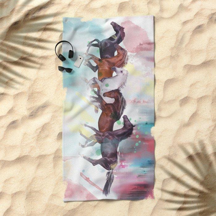 wild horse Beach Towel