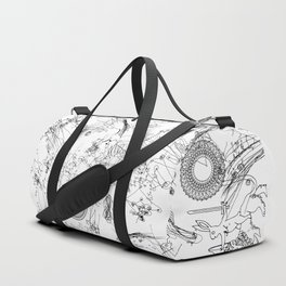 Sacra Marginalia (horizontal) Duffle Bag