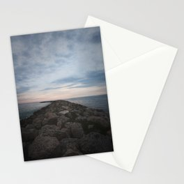 The Jetty at Sunset - Vertical Stationery Cards