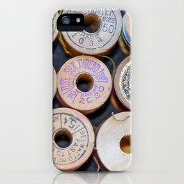 Wooden Spools iPhone Case
