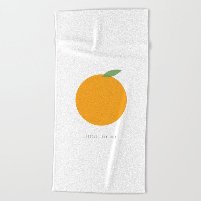 Syracuse New York Orange Beach Towel By Carrielymandesigns Society6