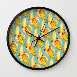 Banana Pattern Wall Clock