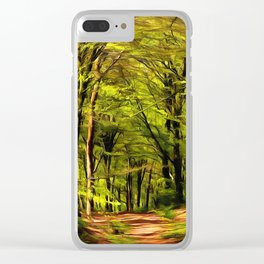 Forest Walk in Spring Clear iPhone Case