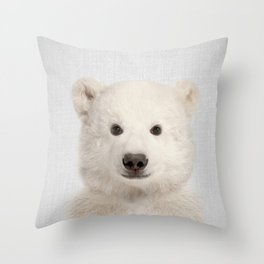 Polar Bear - Colorful Throw Pillow