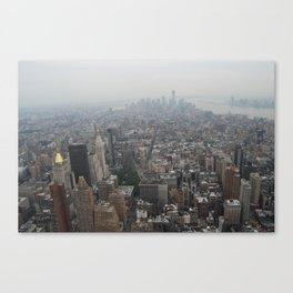 On top of The Empire State Building  Canvas Print