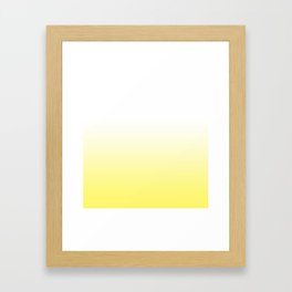 yellow and white ombre Framed Art Print