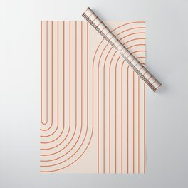 Minimal Line Curvature - Coral II Wrapping Paper
