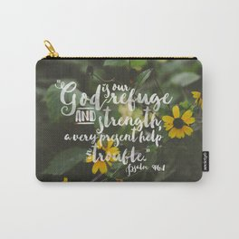 Psalm 46 1 Encouraging Scripture Black Eyed Susan Wildflower Photograph Carry-All Pouch