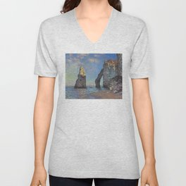Claude Monet - The Cliffs at Etretat Unisex V-Neck