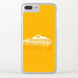Seaside Pier in Yellow Clear iPhone Case