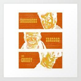 10174 Sandshoes, grandad & Art Print