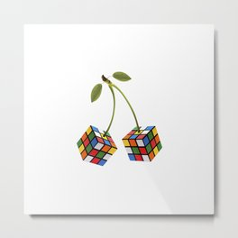 Cherry rubik Metal Print