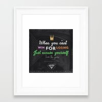 games Framed Art Prints featuring Games by bentleyalivia