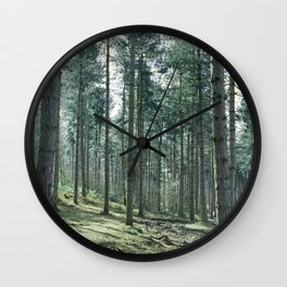 The pines forêt Wall Clock