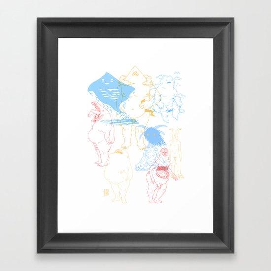 Gods of the Planets Framed Art Print