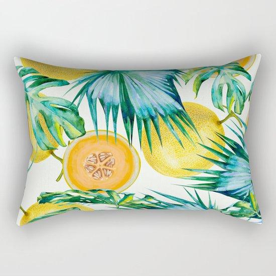 Leaf and melon pattern Rectangular Pillow