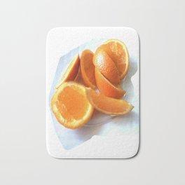 Orange Quarters Bath Mat