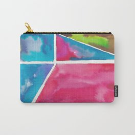 180811 Watercolor Block Swatches 12| Colorful Abstract |Geometrical Art Carry-All Pouch