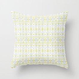 Yellow Batik Throw Pillow