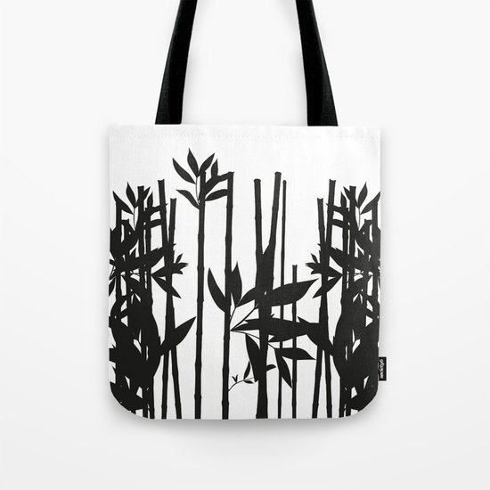 Black Bamboo Tote Bag