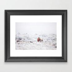 Two Winter Horses Framed Art Print