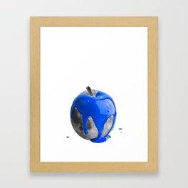 Apple moon blue Framed Art Print