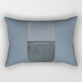 "Aldous Huxley ""Brave New World"" - Minimalist illustration literary design, bookish gift Rectangular Pillow"