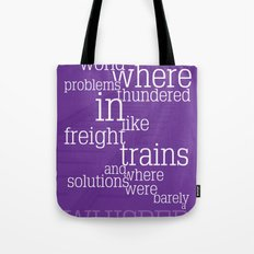 Thundering Problems And Whispering Solutions Tote Bag