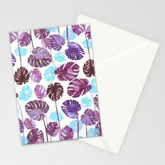 Tropical Cold leaves Stationery Cards