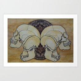 Human & Chimp Art Print