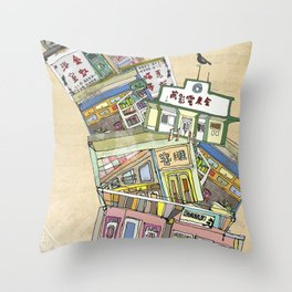 old houses Throw Pillow
