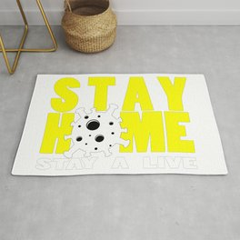 Stay Home Stay A Live Rug