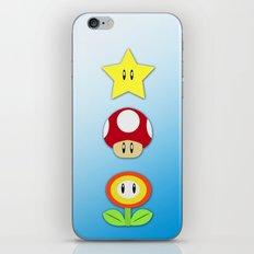 Super Mario Bros Star, Mushroom and Flower iPhone & iPod Skin