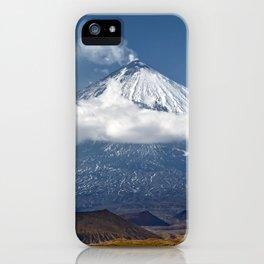 Klyuchevskoy Volcano or Klyuchevskaya Sopka on Kamchatka - highest active volcano of Eurasia iPhone Case