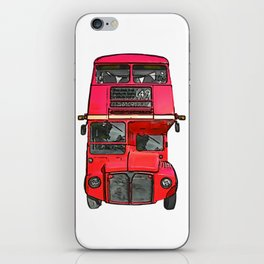 The big red bus. (Painting) iPhone Skin