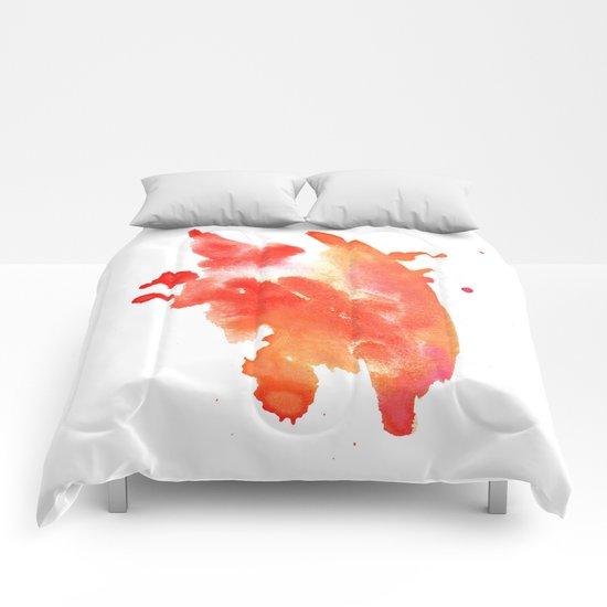 watercolor orange 1 Comforters